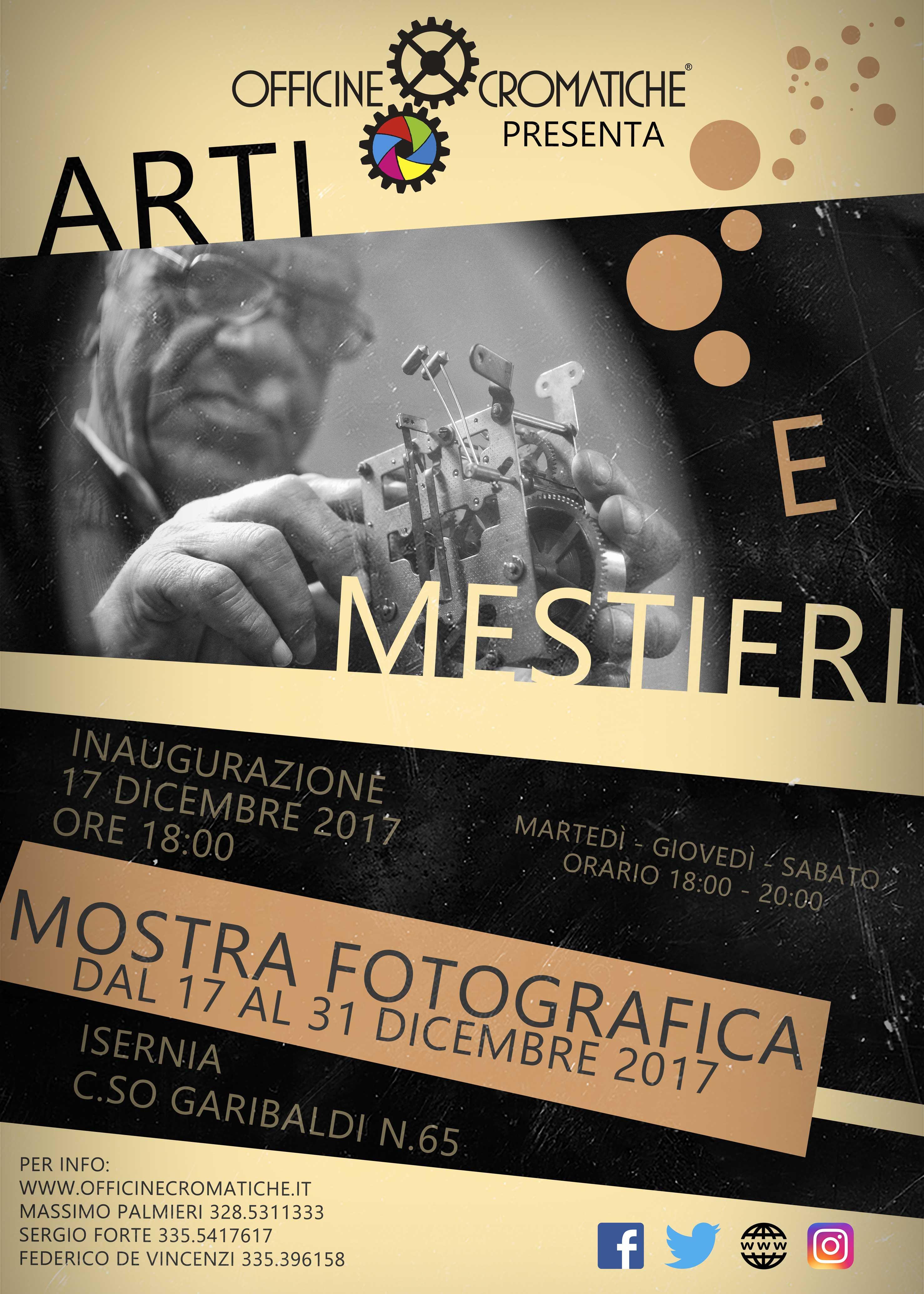 """MOSTRA FOTOGRAFICA """"ARTI E MESTIERI"""" - DAL 17 AL 31 DICEMBRE 2017"""